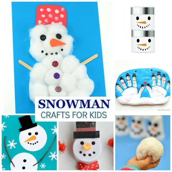 SNOWMAN CRAFTS FOR KIDS: 65 fun & creative ideas!  #snowmancrafts #wintercraftsforkids