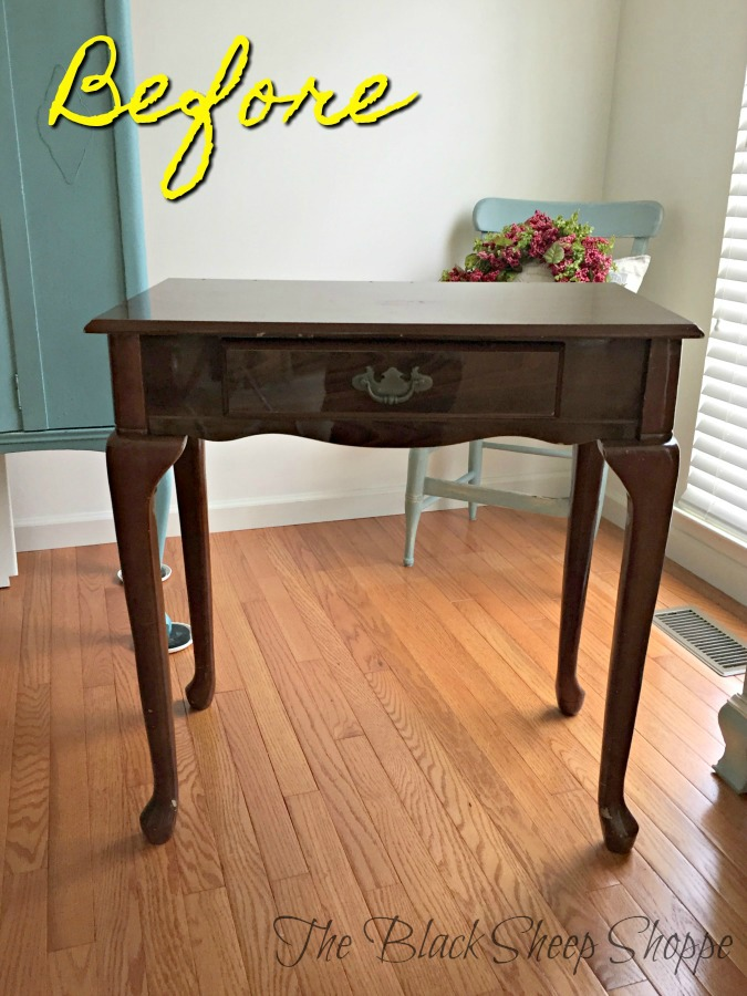 Cheap make-up table found at a local thrift store.