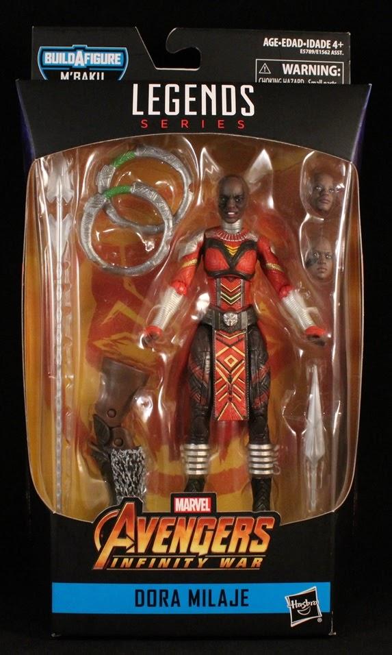 Panthère Noire Marvel Legends m/'baku série Dora milaje Action Figure