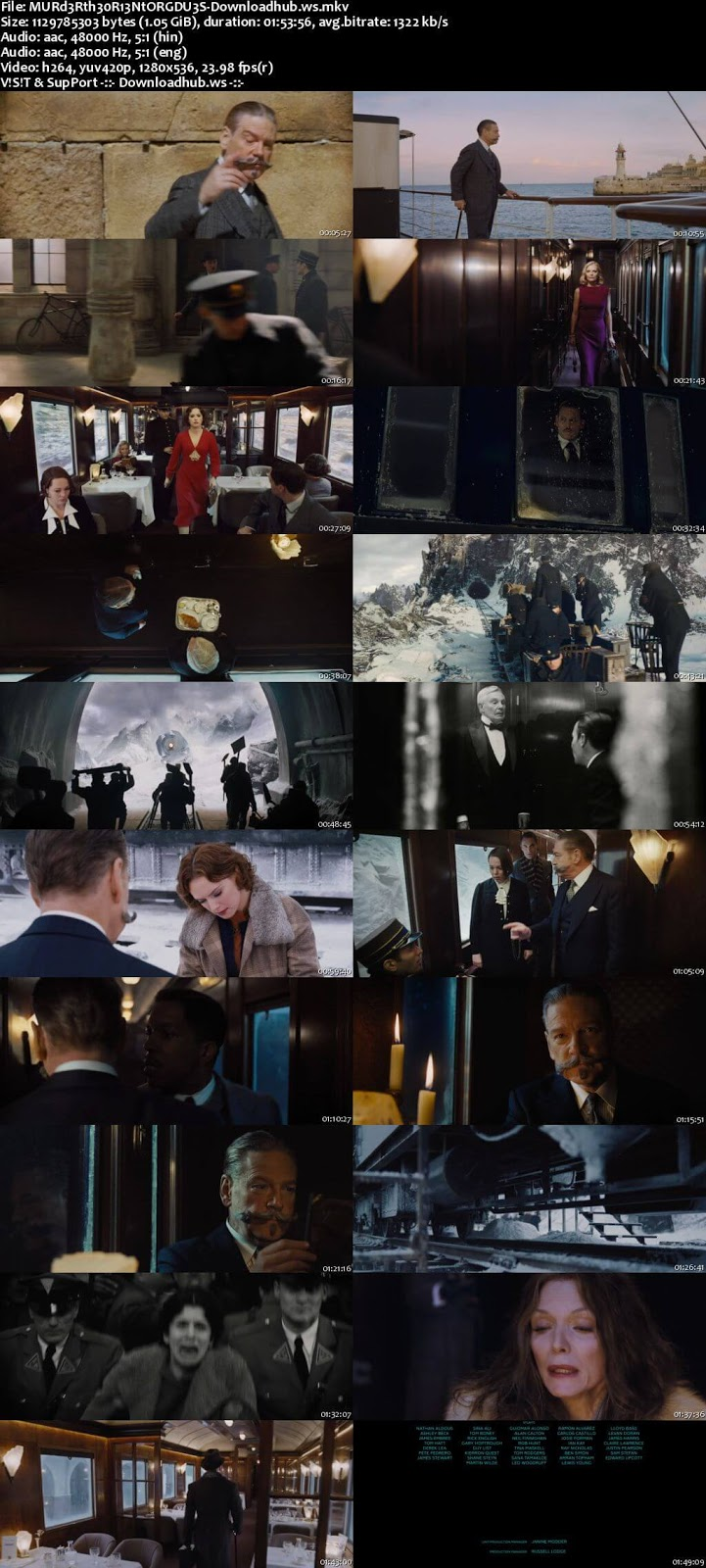 Murder on the Orient Express 2017 Hindi Dual Audio 720p BluRay Free Download