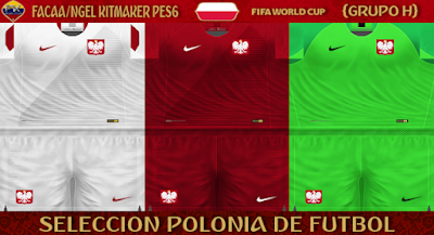 PES 6 Kits Poland National Team World Cup 2018 by FacaA/Ngel