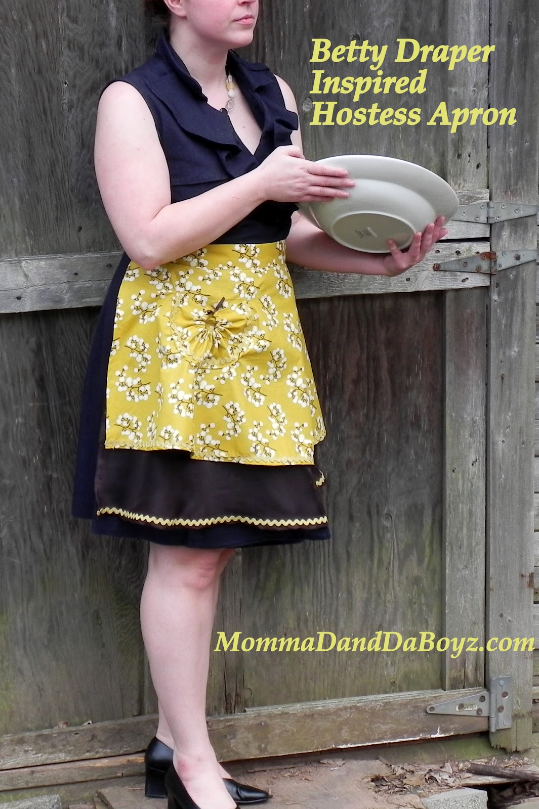 eac63ccb5ac Betty Draper Inspired Hostess Apron Mad in Crafts