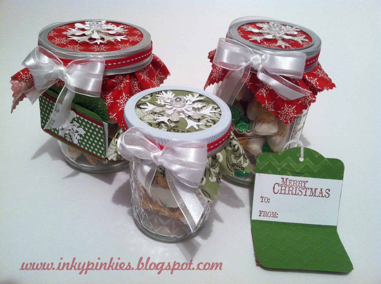 InkyPinkies: Merry Mason Jar Makeover {Christmas Thank