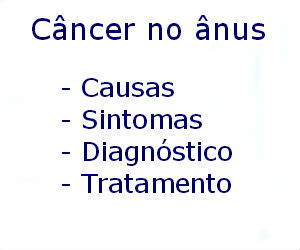 Câncer no ânus causas sintomas diagnóstico tratamento prevenção riscos complicações