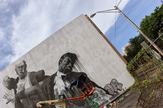 """San Juan Fight Club II"" Second New Mural By Irish Artist Conor Harrington For Los Muros Hablan In Puerto Rico. 3"