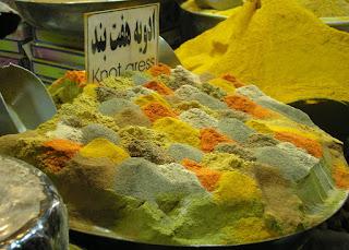 Especias en un bazar de Irán
