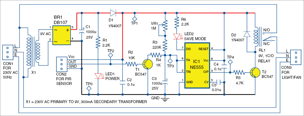 Electronic Project : Infrared Sensor Based Power Saver
