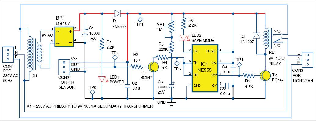 electronic project infrared sensor based power saver. Black Bedroom Furniture Sets. Home Design Ideas