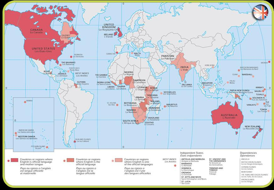 Map english speaking countries english speaking2bcountries2bmap gumiabroncs Image collections