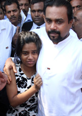 Wimal's daughter who tried to imitate father ... in hospital