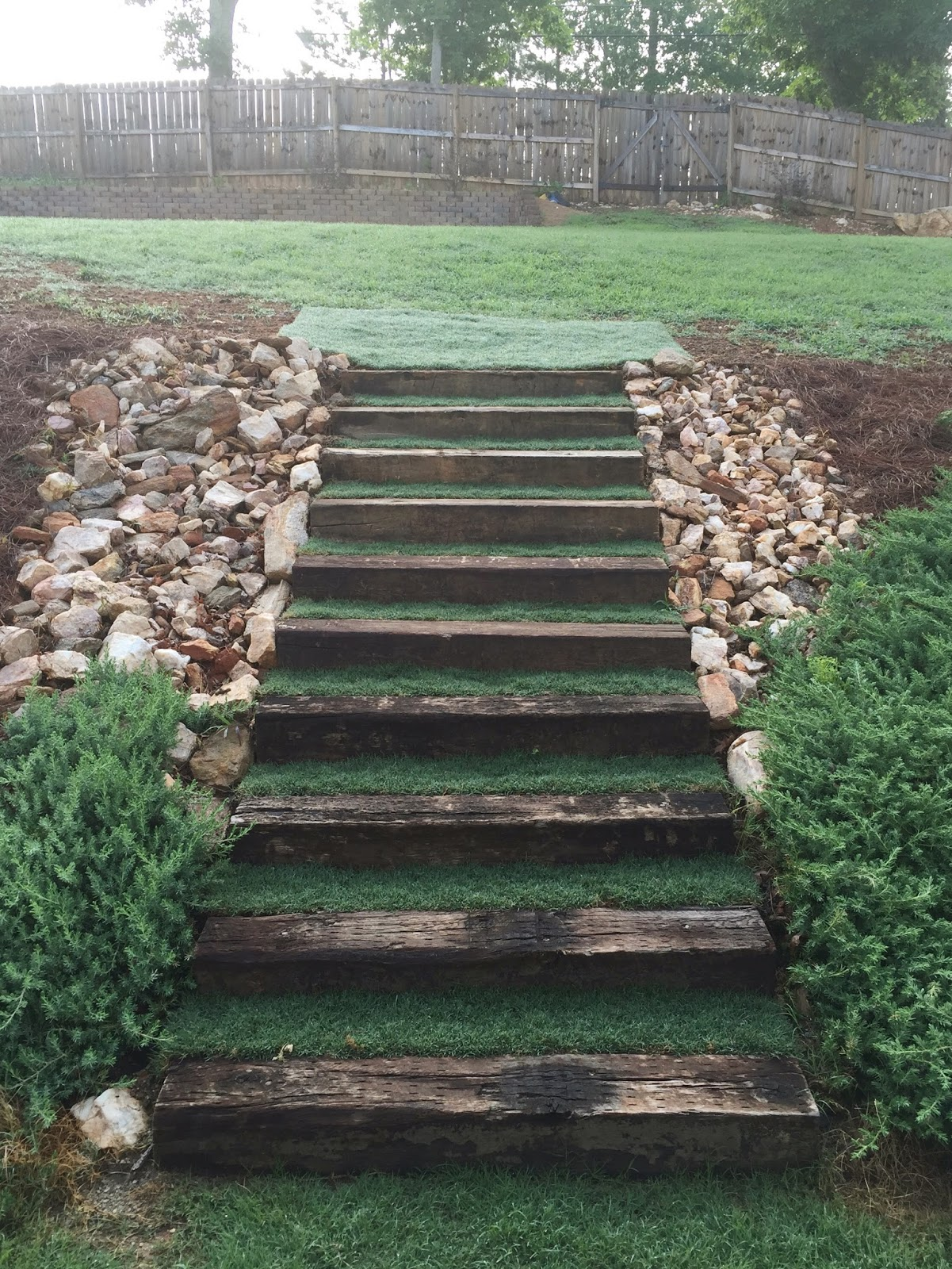 The Counting Courseys outdoor stairs update