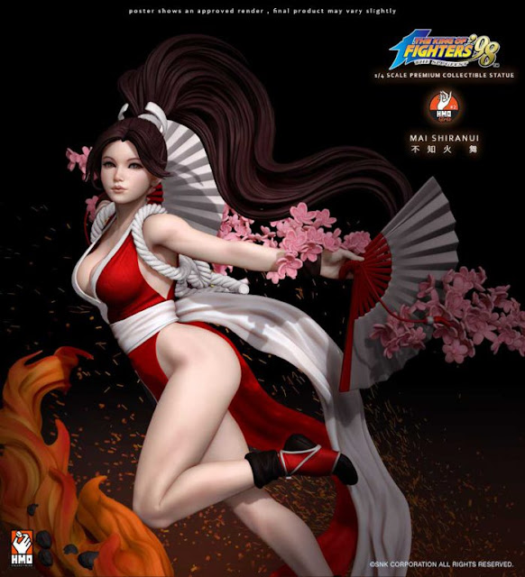 "Mai Shiranui 1/4 de ""King of Fighters"" - Hand Made Object"