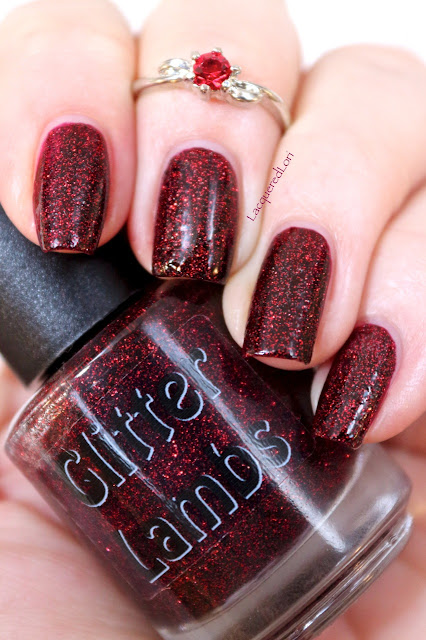 Fall Glitter Topper Nail Polishes by Glitter Lambs Nail Polish-Burgundy Glitter