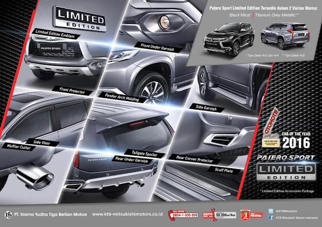 Pajero Sport Limited Edition Hadir dengan Sebelas Item Aksesoris Pilihan