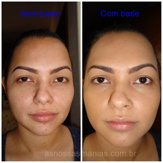 antes e depois da aplicação base Eudora