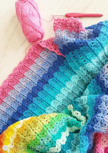 Illuminations Blanket by Susan Carlson of Felted Button (WIP using Scheepjes Cotton 8 yarn)