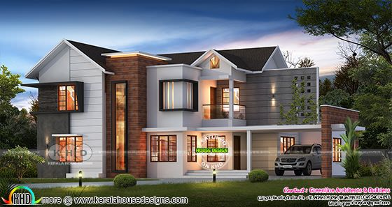 5 bedroom modern house plan in 4100 sq-ft