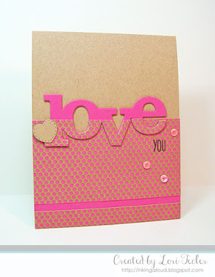Love You card-designed by Lori Tecler/Inking Aloud