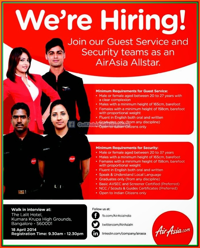 Air Asia Large Job Opportunities