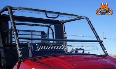 A S Designs Windshield Kawasaki Mule
