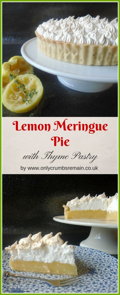 This recipe for lemon meringue pie sees the tart flavour of lemon married with thyme for a twist on the classic dessert.