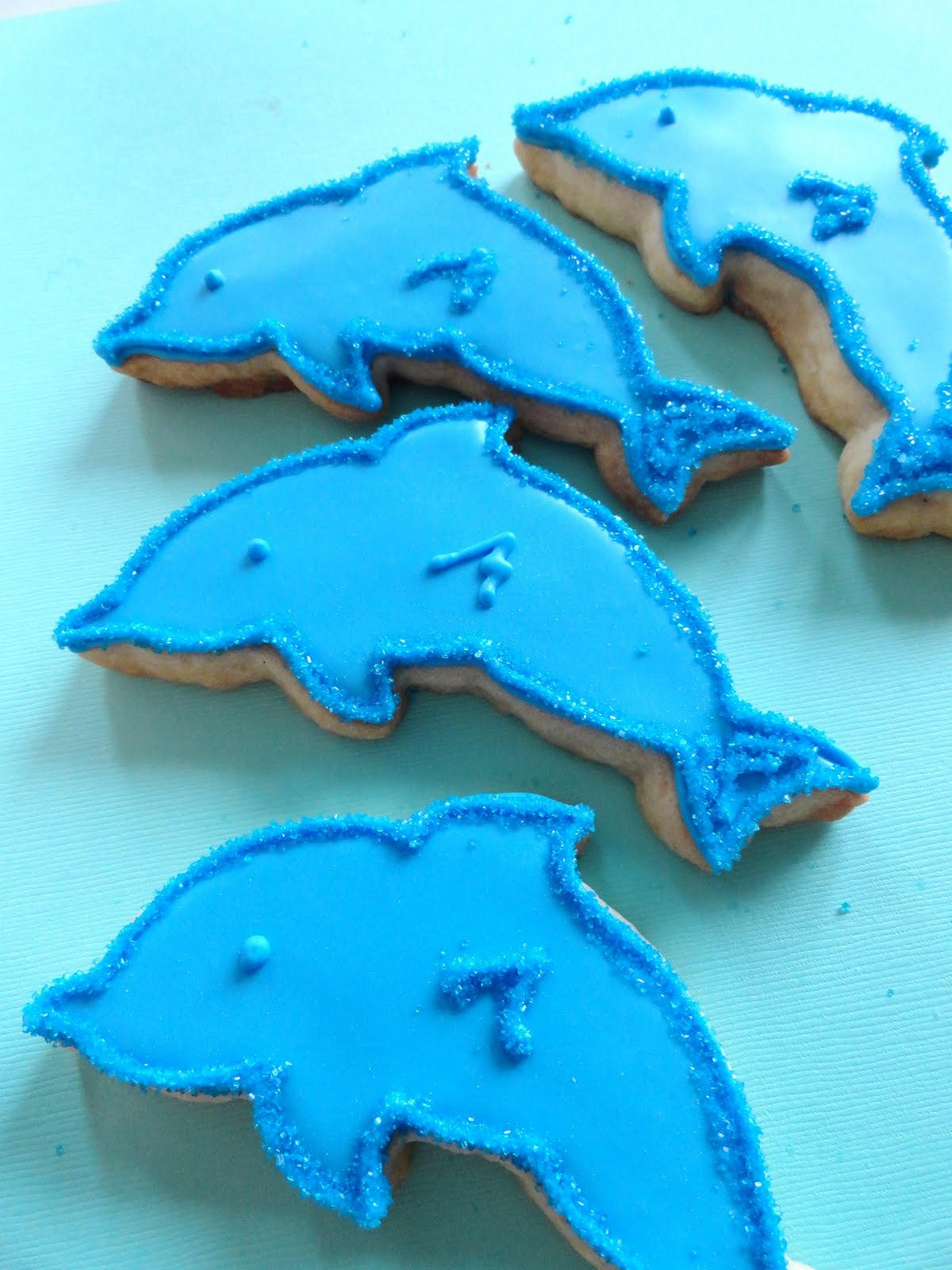 Pink Little Cake Fish Dolphins And Star Fish Cookie