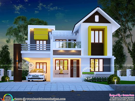 Cute and dream Kerala home design 1600 sq-ft | Kerala home design | Bloglovin'