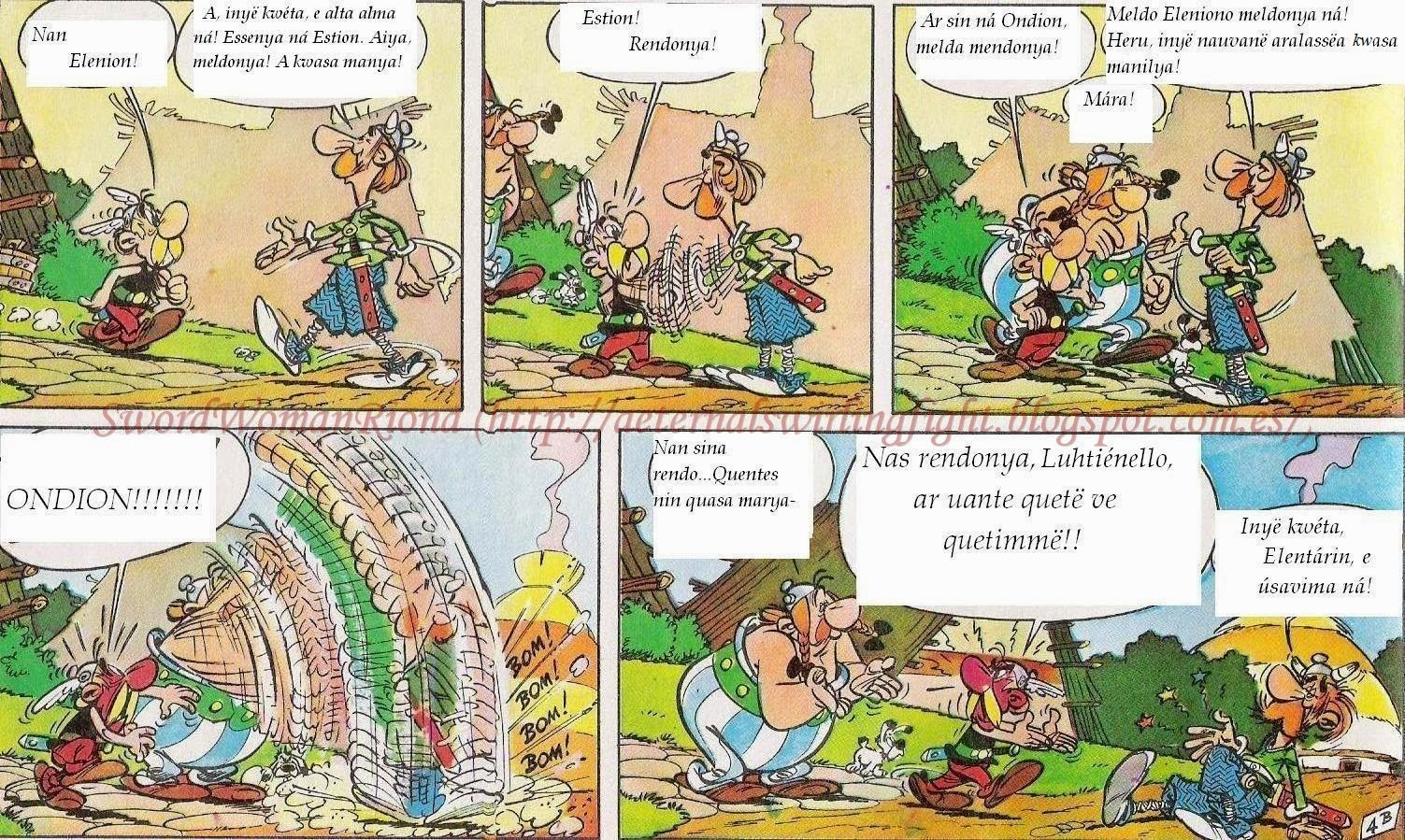 The Aeternal Swirling Fight : Translating Astérix into Quenya