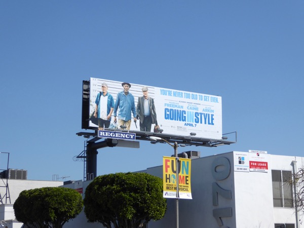 Going in Style movie remake billboard