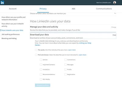 Linkedin Personal Data