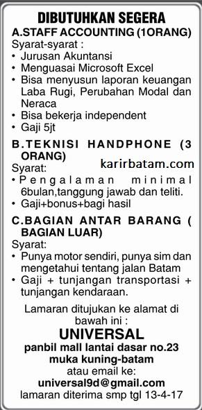 Lowongan Kerja Universal Indonesia