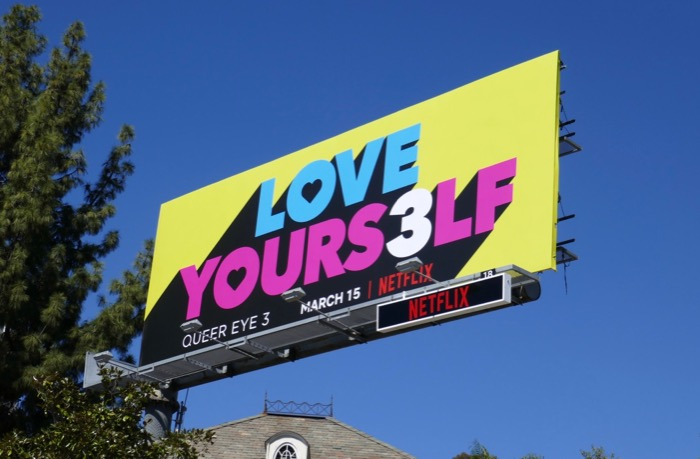 Love Yourself Queer Eye season 3 billboard