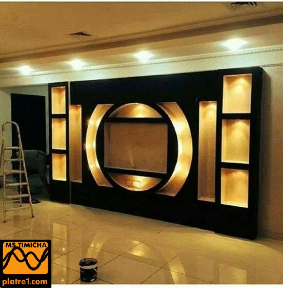 Decoration interieur tv decoration platre plafond for Decoration ba13