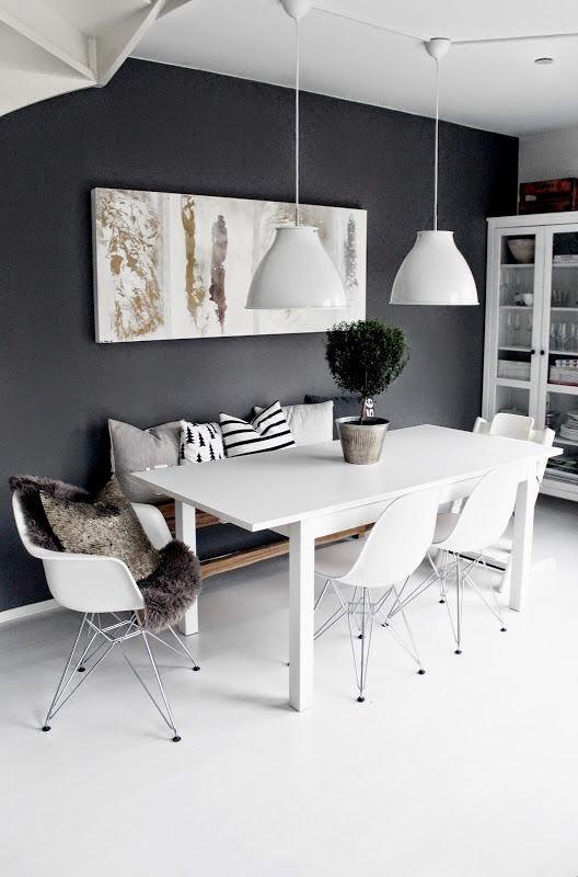 El blog de demarques como decorar el comedor en espacios combinados Colores pared comedor