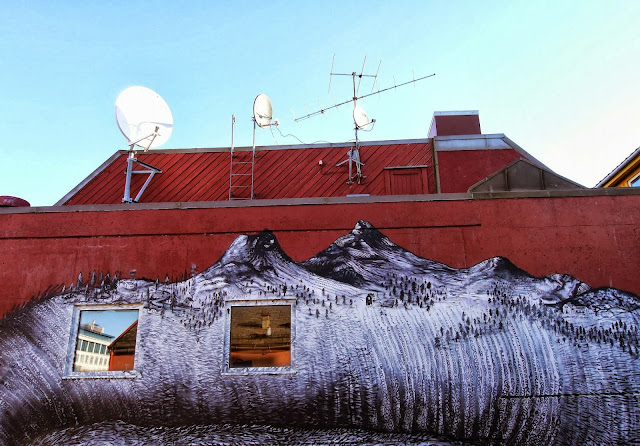 British Street Artist Phlegm Paints A New Urban Mural In Northern Norway. 5