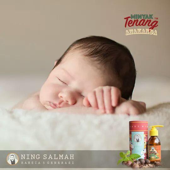 Minyak Tenang Anakanda by Ning Salmah untuk merawat bayi yang kembung perut