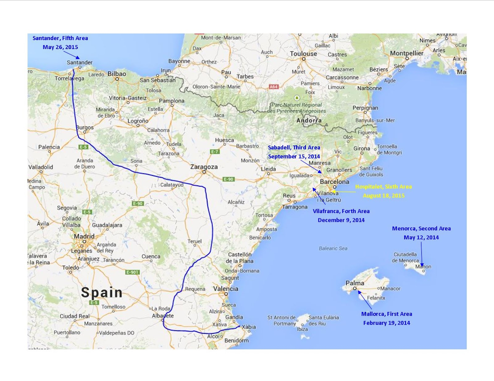 Map Of Spain Near Barcelona.Tikal S Missionary Blog Map Tikal S Latest Area Is Back Near