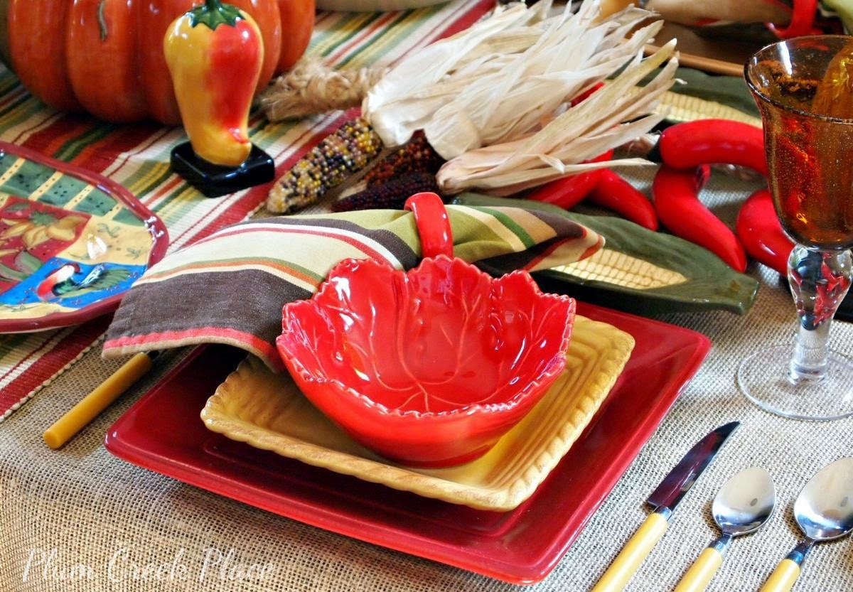 Fall Fiesta Tablescape, fall decor