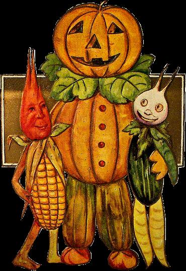 Zoom dise o y fotografia calabazas vintage para halloween - Disenos de calabazas de halloween ...