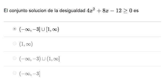 conjunto de soluciones matematicas