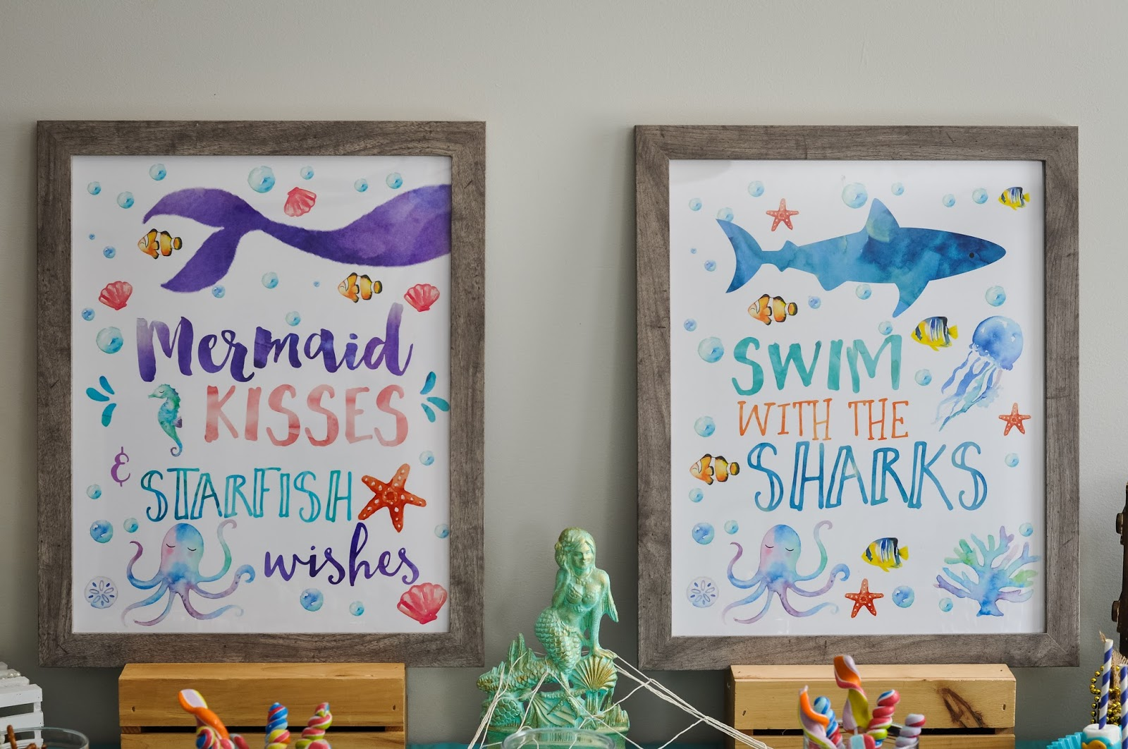 Under The Sea A Joint Shark And Mermaid Birthday Party