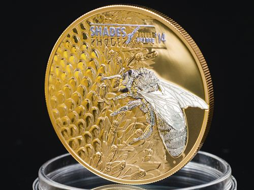 Cook Islands 2014 Shades Of Nature Bee Coin Lunaticg Coin