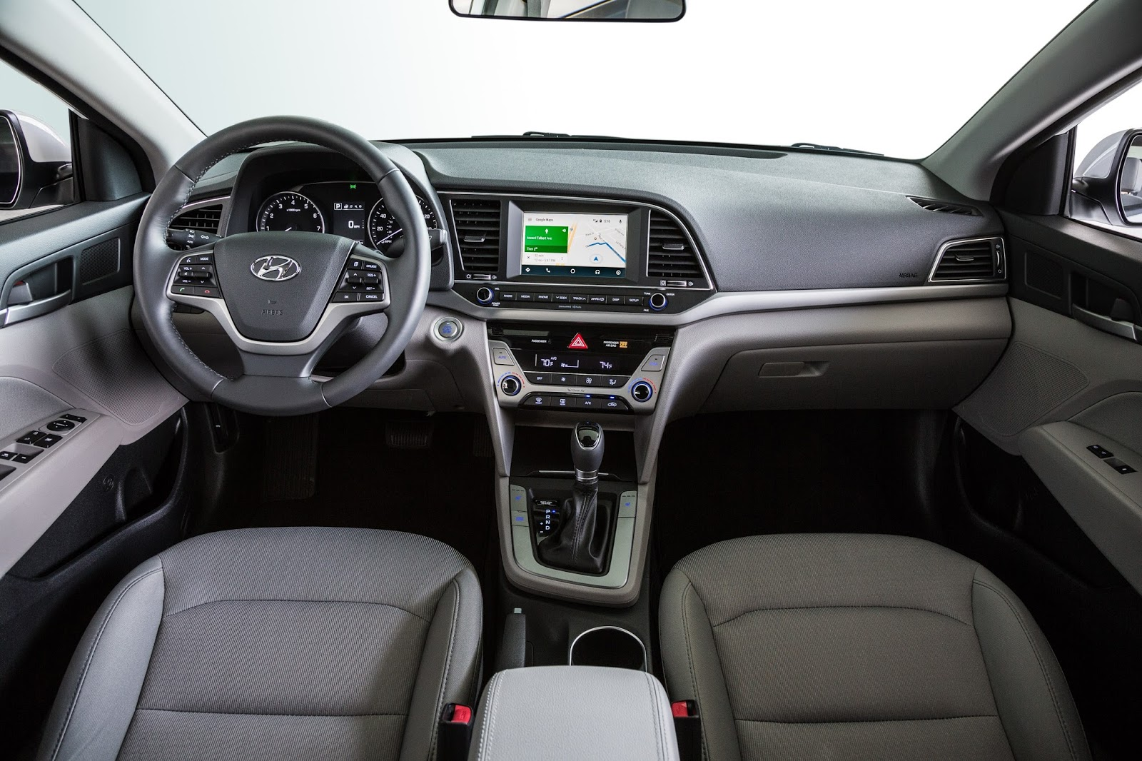 Interior View Of 2017 Hyundai Elantra Eco