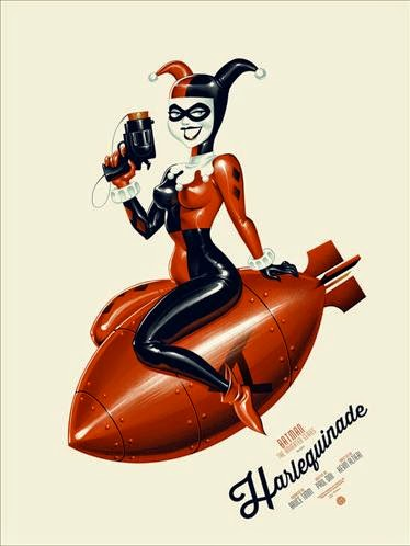 "Mondo x DC Comics - ""Harlequinade"" Batman: The Animated Series Standard Edition Screen Print by Phantom City Creative"