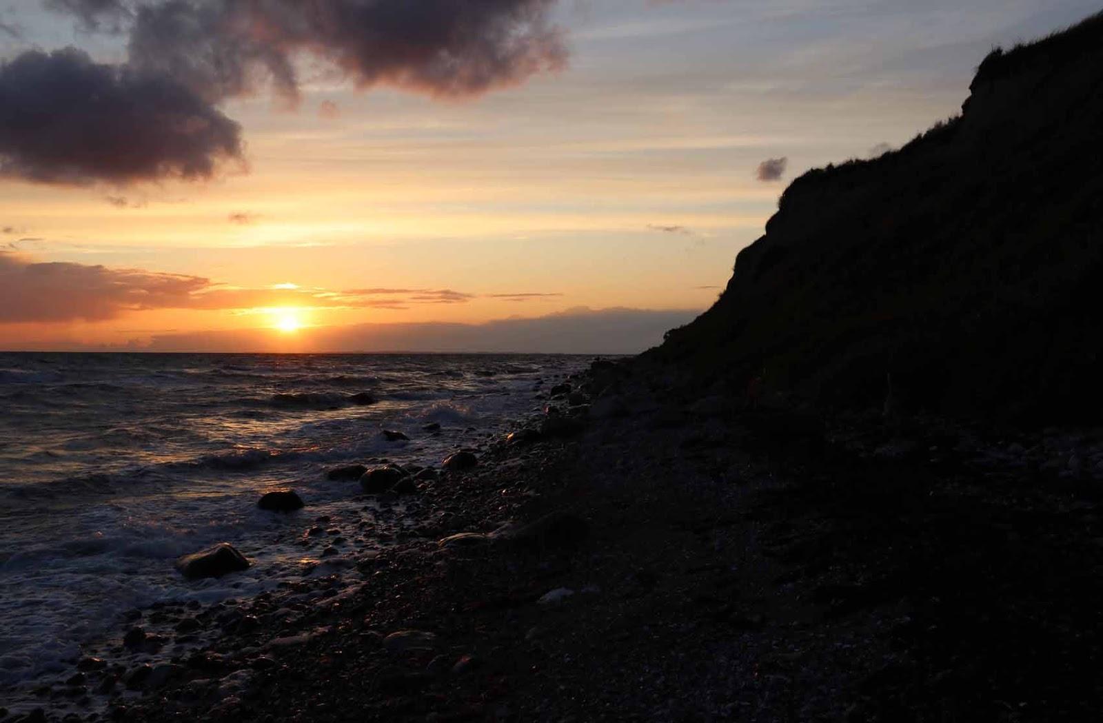 Ærøskøbing auringonlasku Tanska meri