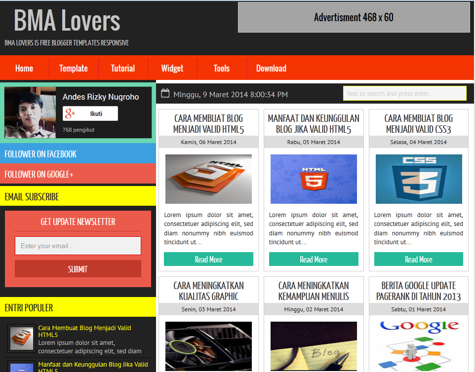 BMA Lovers Responsive Blogger Template