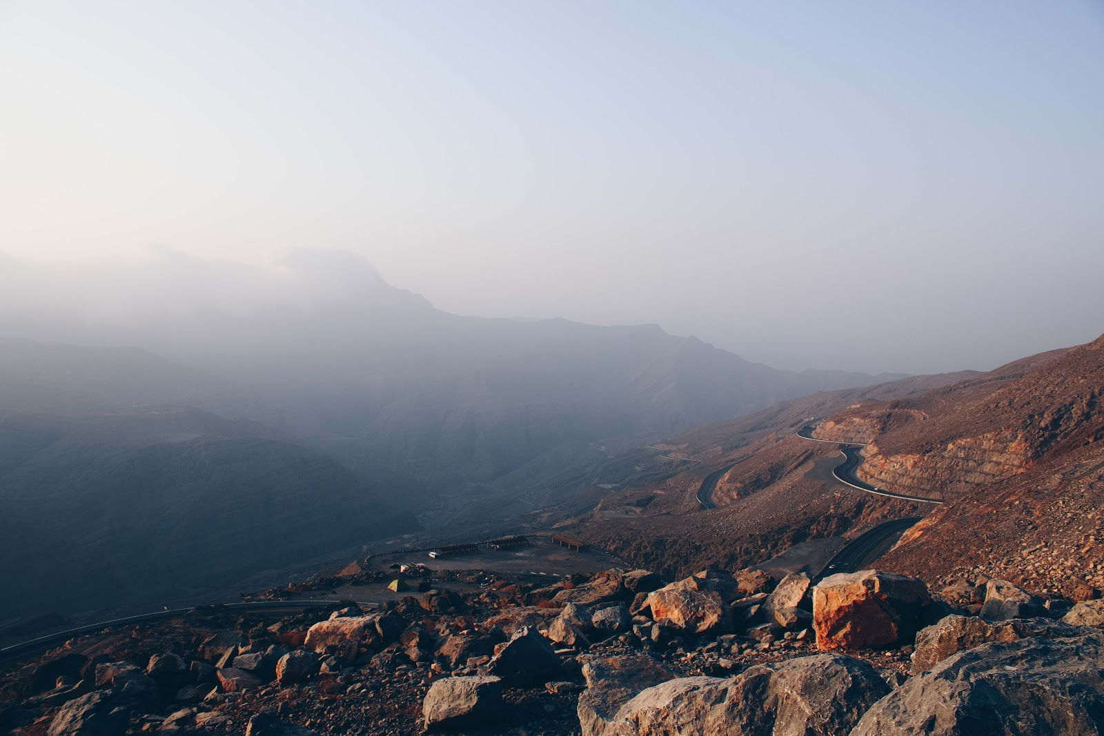 Jebel Jais mountain top photo