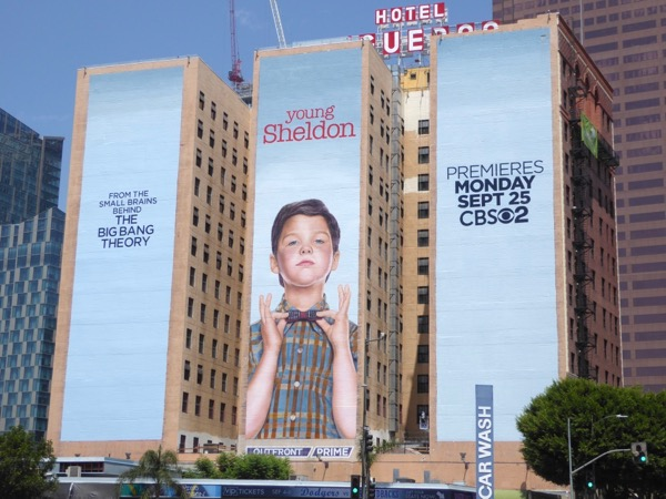 Giant Young Sheldon series premiere billboard