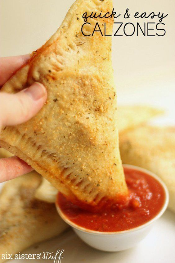 QUICK AND EASY CALZONES
