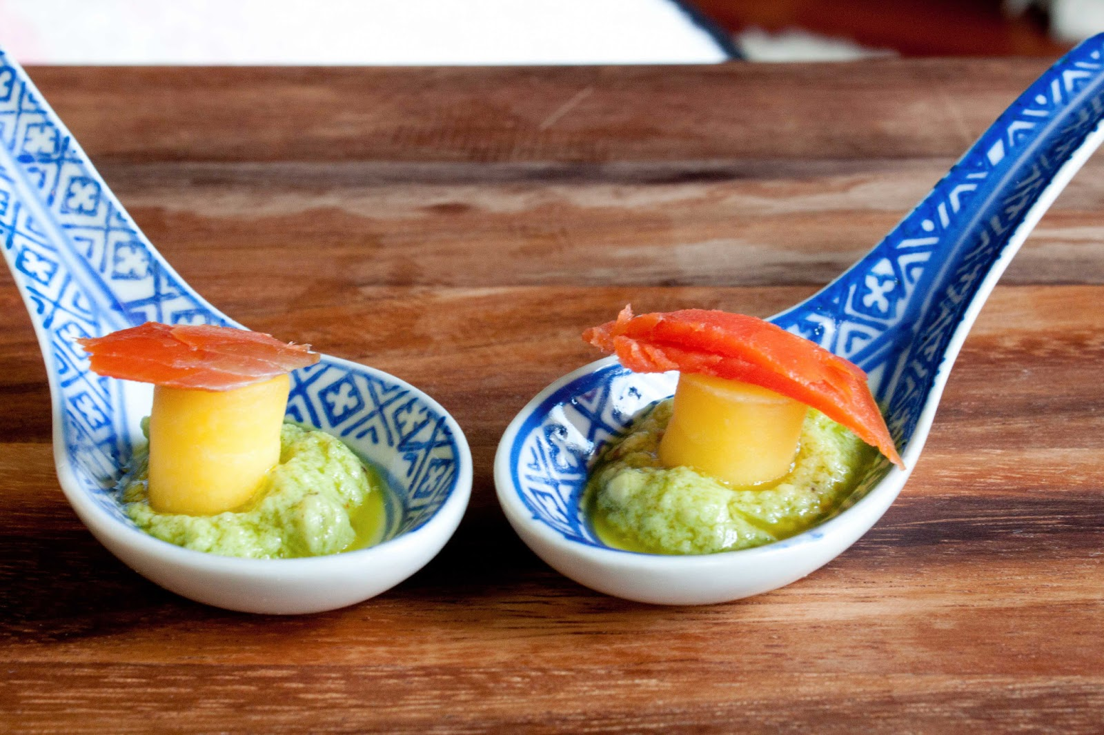 fat and happy blog smoked salmon and mango on avocado mousse appetizer. Black Bedroom Furniture Sets. Home Design Ideas
